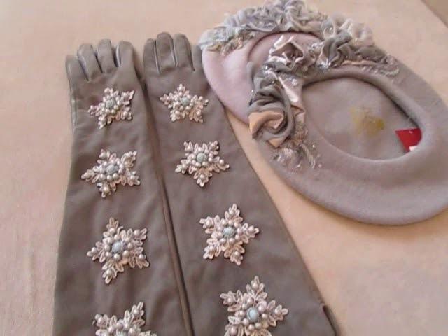 Вышивка на замшевых перчатках. Модные перчатки. Тренд созона. Мода зима 2018