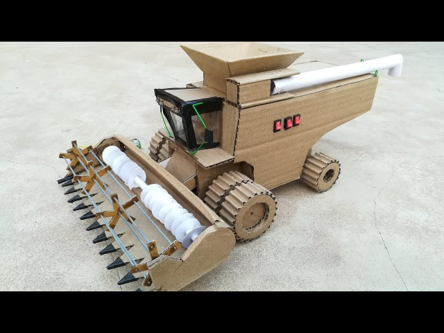 How to make DIY Harvester from cardboard at home || John Deere Harvester