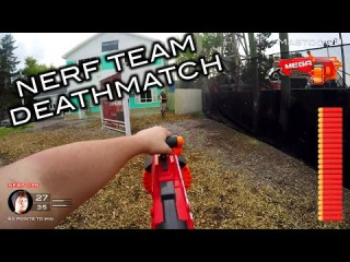 Nerf meets Call of Duty: Team Deathmatch | First Person on Real Life Nuketown!