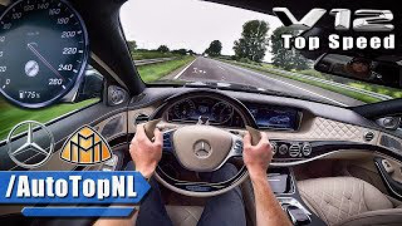 MERCEDES MAYBACH 6 0 V12 BiTurbo ACCELERATION TOP SPEED AUTOBAHN POV by AutoTopNL