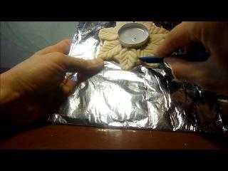 Как лепить подсвечник для свечи-таблетки