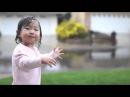 15 aylık minik kızın yağmurla ilk Buluşması