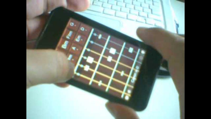 IPhone Guitar App - Canon in D / アイフォンのギターアプリでパッヘルベルのカノン演奏して1241