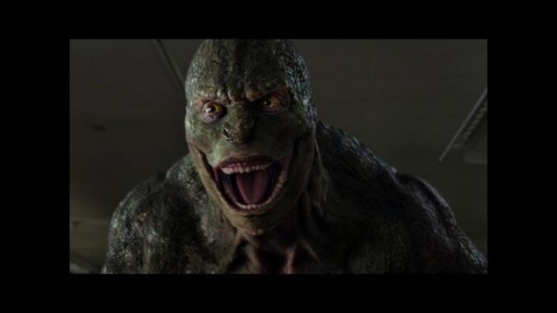 Ящер нападает на Питера Паркера в школе. Новый Человек-паук. 2012.