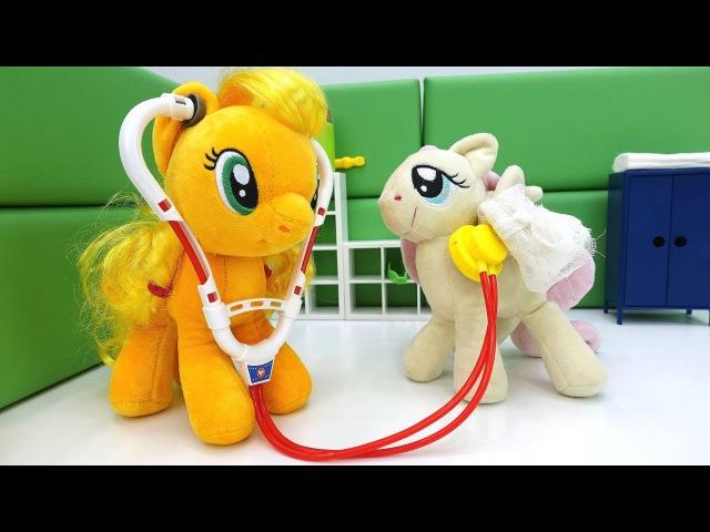 Мой маленький пони. Дружба это чудо💓мультик с игрушками. Флаттершай сломала кр...