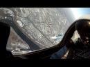 Су-30СМ. Полет над Красноярском. Вид из кабины лётчика. Новейший истребитель России