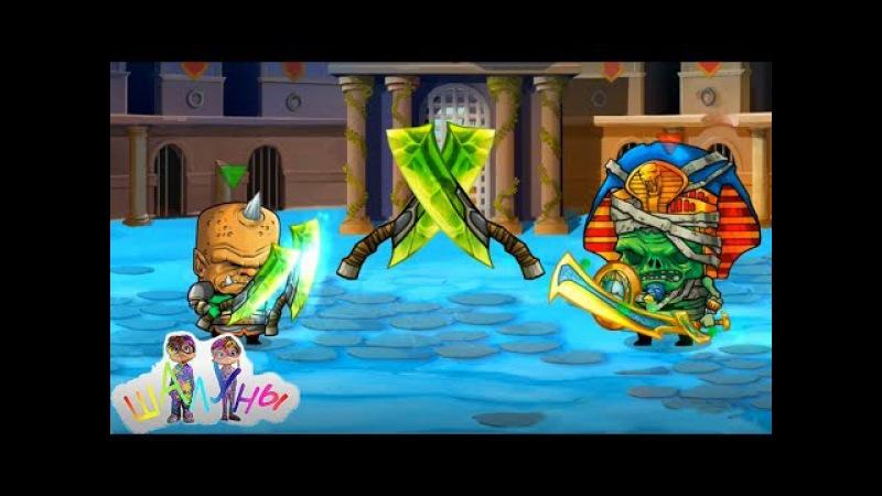 ЛЕГЕНДАРНЫЕ НОЖИ против ДВУХ БОСОВ в игре Тiny gladiators!