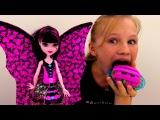Мультик #МонстерХай Дракулаура РАБОТАЕТ в КАФЕ ? Видео куклы и игры для для дев ...