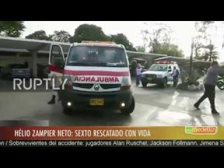 Колумбия: Шестой авиакатастрофе выживших прибывает в больницу после того, как в конце открытия.