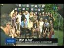 Benjamin Amadeo en telefenoticias con elenco de su ficcion FannyLaFan
