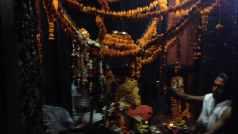 Maha Shiva Ratri. Varanasi. Nepali Temple. Puja