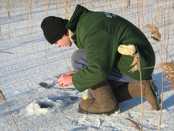 рыбалка на плотву по последнему льду