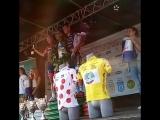 Церемония награждения победителей, призеров 2-го этапа велогонки