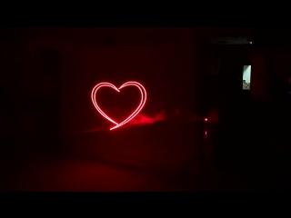 Лазерное шоу Антона и Инги