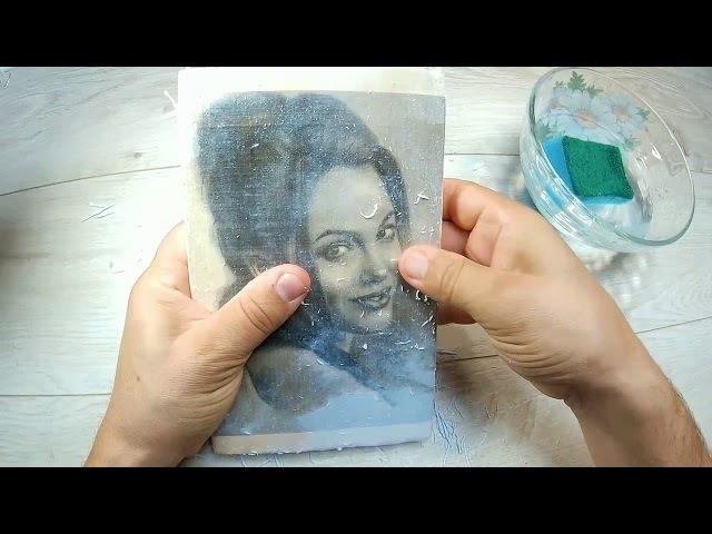 Перенос фото на деревянную доску. ПРОСТО
