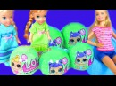 LOL Surprise Lil Sisters Мультик Барби КУКЛЫ ЛОЛ Barbie Baby Sitter Twins Elsa and Anna Toddlers
