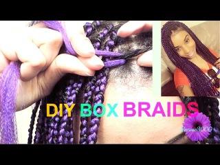★ ☆DIY Box Braids (Slow motion): Two strand twist method★ ☆