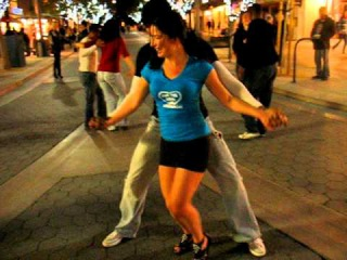 Street Salsa after 5 guiness beers, Ella and Michael Nice