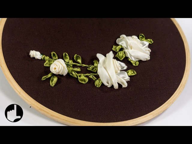 Stitch Ribbon Roses: Elegant Flower Design by HandiWorks 125