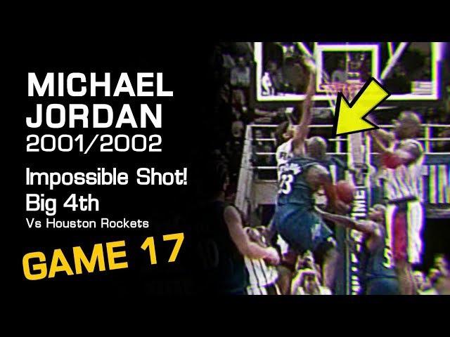 Michael Jordan Big 4th Quarter Impossible Shot Vs Houston Rockets! (12.06.2001)