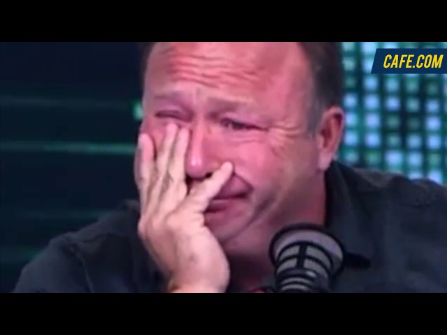 Alex Jones Crying Over Hillary Demon