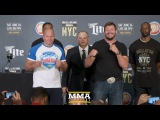 Bellator NYC Press Conference Staredowns (w/commentary) - MMA Fighting