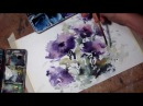 Hedwig's Art Purple flowers watercolor
