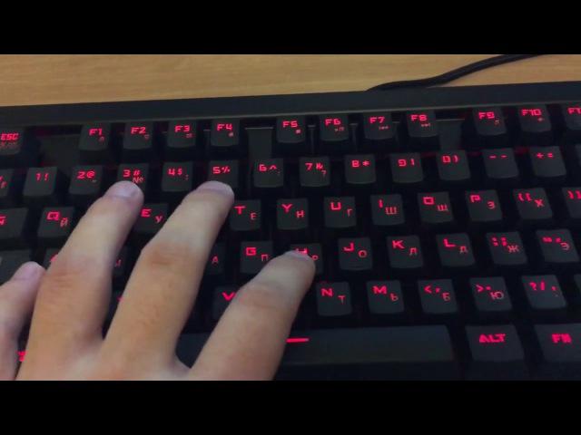 Звук механической клавиатуры Oklick 930G IRON EDGE
