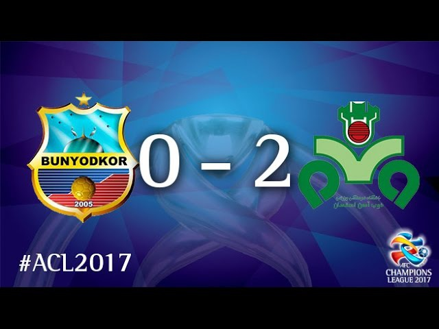 Bunyodkor vs Zobahan (AFC Champions League 2017 : Group Stage - MD3)