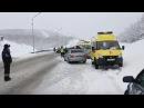 Последствия ДТП Североморск - Мурманск около Росляково 5 апреля 2017 года