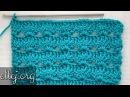 ♥ Узор крючком Лагуна • Мастер-класс и схема вязания • Lagoon Crochet Stitch • ellej