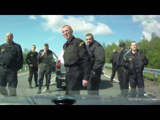 Бандитская группировка СОБР на дороге