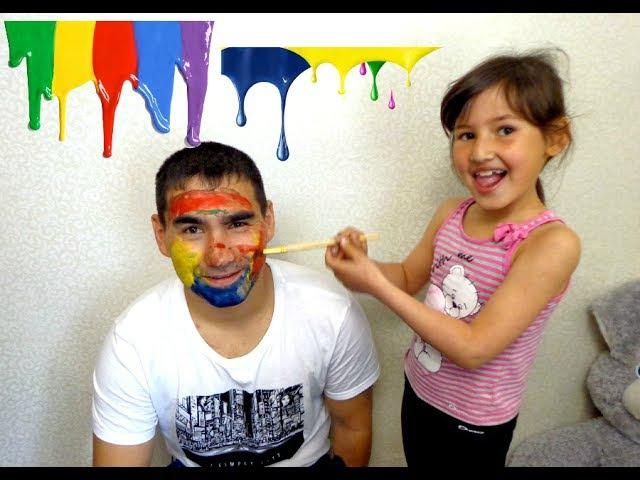 Bad Baby Colors Face Вредные детки разрисовали дядю Видео для детейDetki Konfetki TV