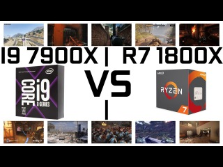 INTEL CORE I9 7900X VS AMD RYZEN 7 1800X || Benchmark in Games || GTX 1080 Ti