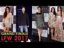 Karisma Kapoor, Sridevi, Khusi Kapoor At Lakme Fashion Week 2017 Grand Finale Manish Malhotra's Show