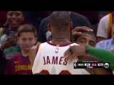 LEBRON NICE SLAM | Kyrie Irving Handshakes With Former Teammates!
