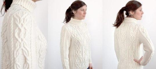 47e6993af40 Белый свитер Centeno - Вяжи.ру