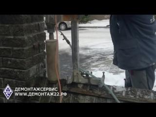 Алмазное бурение (сверление) бетонного забора под столбы