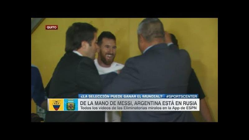 Messi y su abrazo hondo con Claudio Tapia