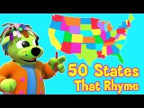 50 States That Rhyme  Song With Lyrics  U.S.A - Raggs Tv