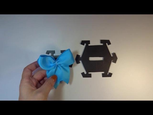 Как сделать пластиковый шаблон для бантика своими руками часть 1