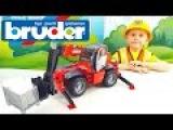 Дорожный Погрузчик BRUDER Manitou MRT / Видео детям с Даником и Машинами Брудер