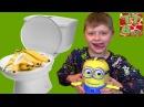 BAD BABY МИНЬОН КАКАЕТ Бананами ВРЕДНЫЕ ДЕТКИ ПРАНК Видео для детей Minions Toys