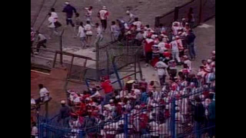 Pancadaria SPFC x Palmeiras - 1995