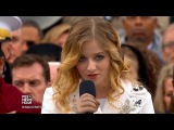 Jackie Evancho - National Anthem For Trump - Plagued with Audio Issues