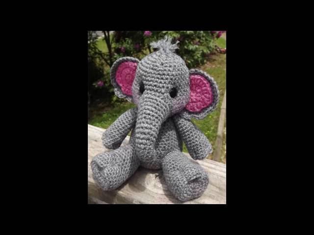 Divertidos Elefantes Tejidos a crochet