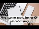 Что нужно знать Junior C разработчику?