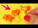 🌟ЛЕДЕНЦЫ для КУКОЛ 😍 ПЕТУШОК НА ПАЛОЧКЕ 💖 ЕДА для кукол 😍 FIMO Мастер класс А