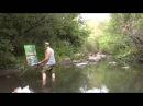 ШОК Художник рисует стоя в воде Пленэр живопись с натуры