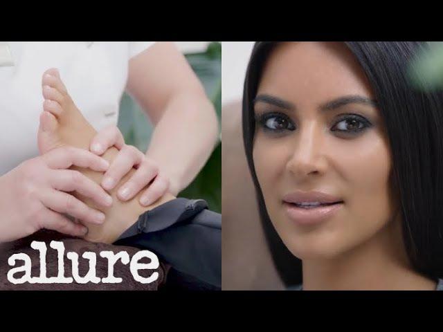 Kim Kardashian Interviewed About Kanye While Getting a Foot Massage Allure смотреть онлайн без регистрации